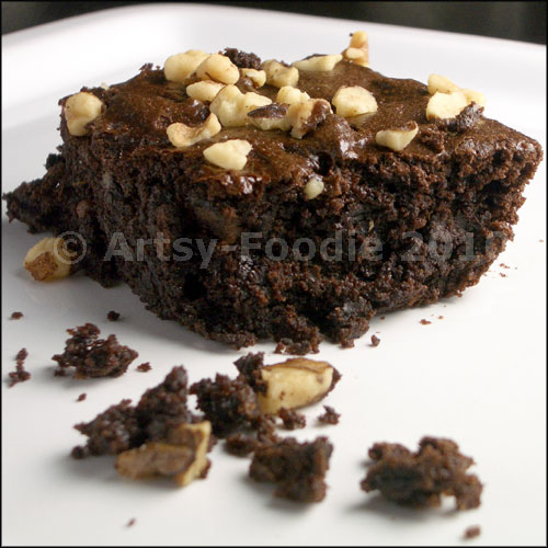 Flourless brownies crumbs