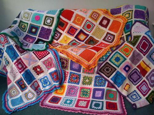 Our beloved 6 'SIBOLS'. Thanks to you for sending me the Squares! www.sunshineinternationalblanketsoflove.blogspot.com