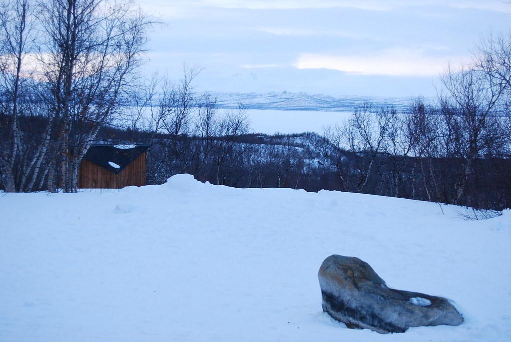 Vistas del lago Torneträsk en Abisko