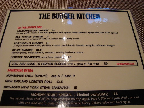 Menu @ Burger Kitchen