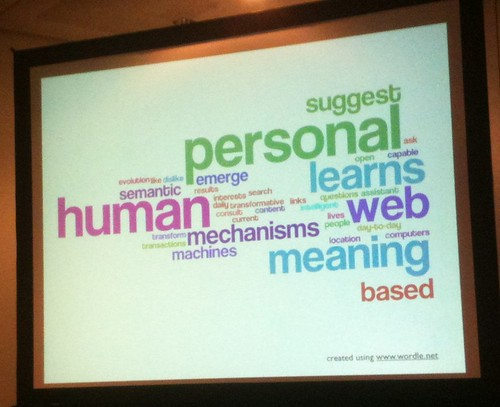 Wordle of the Semantic Web (Web 3.0) by Angela Maiers