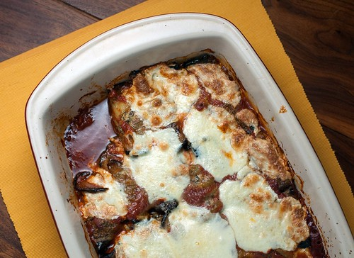 Eggplant Parmesean with Swiss Chard and Mint-8