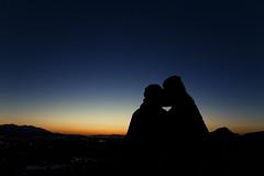 Photograph 8836 (rexforever) Tags: new city light sunset rock set night contrast canon dark kiss kissing dusk low saltlakecity stump 7d tameron