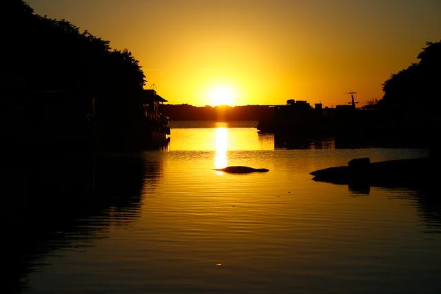 Por do Sol no Rio Jacuí