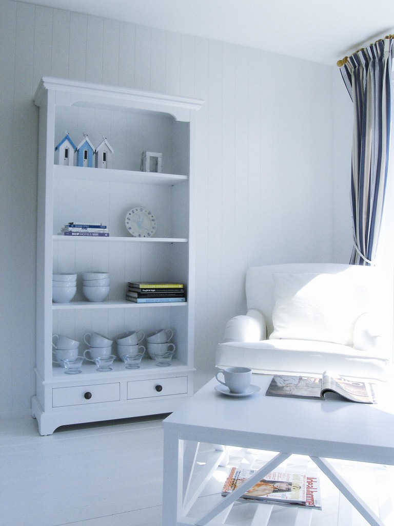 The white bookcase