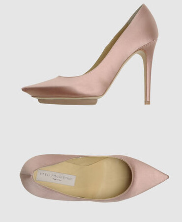 Stella McCartney pink satin heels shoes