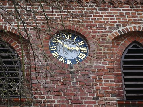 Kirchturmuhr der Heilig-Geist-Kirche in Teupitz