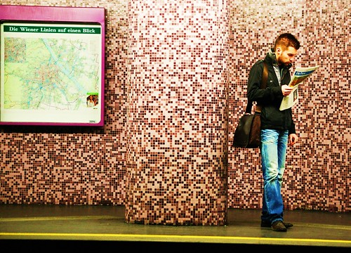 Pixles & pink & punk in a subway