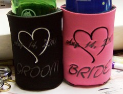 open heart date for the bride and groom (The Koozie Floozie) Tags: style can sodabeer