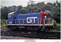GTW SW900 7227 (Robert W. Thomson) Tags: railroad train diesel michigan railway trains grandrapids locomotive trainengine gt sw9 gtw switcher switchengine emd grandtrunkwestern fouraxle sw900 endcabswitcher