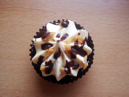 Chocolate Salted Caramel Cupcake - The Inky Kitchen