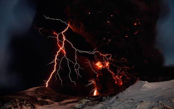 Tormenta en el volcán