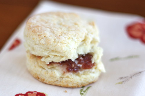 Sweet Cream Biscuits w/ Agave Peach Raspberry Jam (Tuesdays with Dorie)