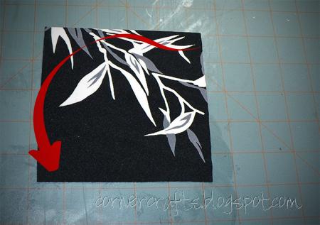flower petal big hair clip fabric square