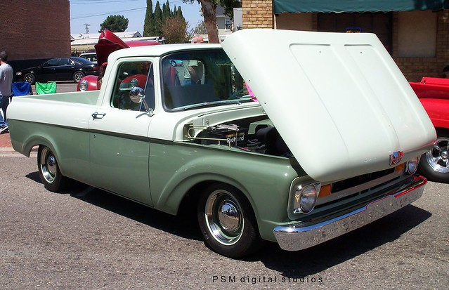 pickuptruck 1962 1961 longbed fordf100 unibody 46v8orangecaliforniacarshow