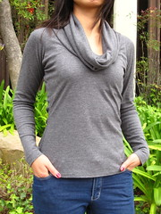 Vogue 8597 Cowl Neck Knit Top