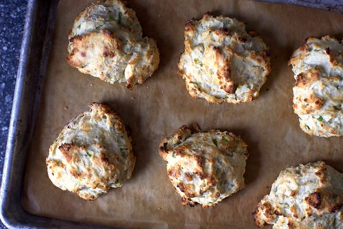 blue cheese scallion drop biscuits | smitten kitchen
