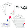 Office Supply Party Notepads