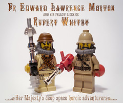 Steampunk explorers (captainsmog) Tags: mars gun rivets lego space victorian evil astronaut steam backpack bubble copper guns heroes minifigs explorers gears martian blaster phaser steampunk mocs moc