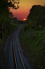 An Engineers Dream (ShadowCatcher Gallery) Tags: sunset tennessee tracks rails themasters tokina287026 canon7d burnstennessee shadokachr