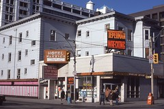 Historic photo from 1980 - Warwick Hotel, Dundas Street East at Jarvis Street in Garden District