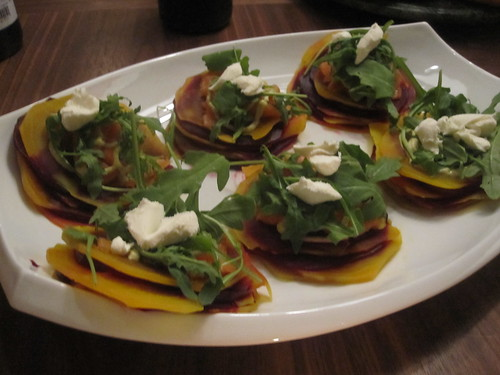 beet and smoked salmon napoleons