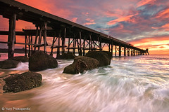 Beach Sunrise :: Catherine Hill Bay, Central Coast, NSW Australia (-yury-) Tags: ocean sea sky seascape beach water sunrise pier rocks wave australia nsw coal centralcoast loader catherinehillbay