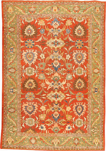 Antique Sultanabad Persian Rugs #42057 by Nazmiyal Collection
