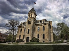 Carleton College Campus - 28 (GeoffMyers.com) Tags: sky panorama cloud detail building college architecture clouds contrast photoshop canon buildings campus intense raw cloudy geoff dramatic overcast panoramic dslr processed enhanced carleton myers detail