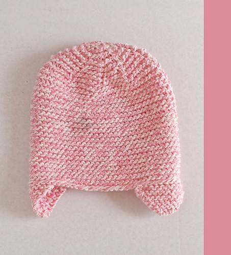 Pink Garter Newborn Hat