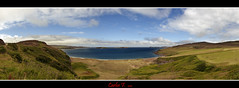 Panoramic view from Coldbackie (Carlos F1) Tags: sea cloud costa green beach clouds coast scotland mar highlands sand nikon view unitedkingdom united scottish kingdom playa escocia panoramic arena panoramica nubes vista nube coldbackie reino unido tierra reinounido hierba d300 escoces scotlanda