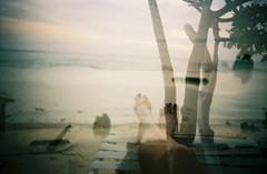 Relax (kellysullivanphoto) Tags: film beach 35mm lomo lca lomography aruba multipleexposure caribbean palmbeach solidgold200