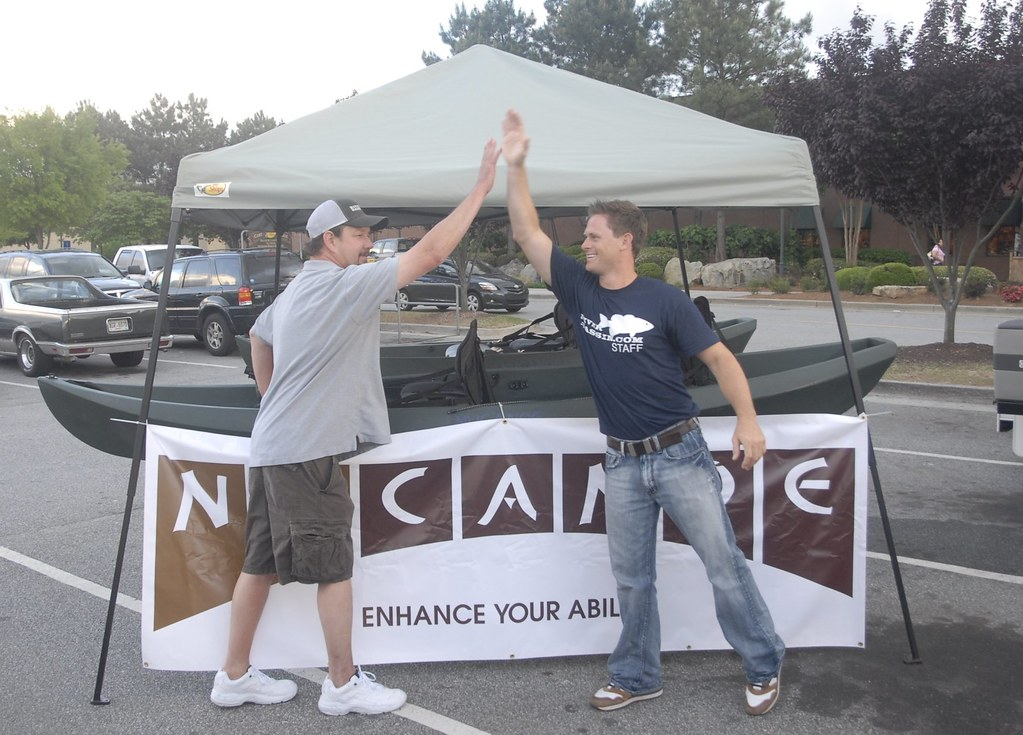 Jon Freeman wins a NuCanoe for finishing 2nd in the avid angler   division of the river bassin tournament trail