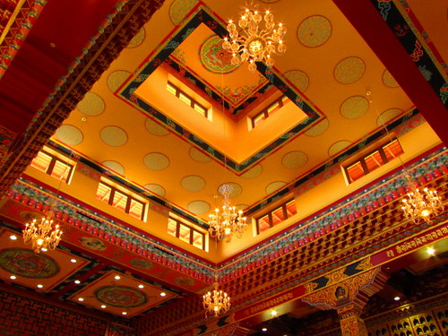 Ceiling of the Main Shrine Hall at Thrangu Monastery Canada, No. 5 Road Richmond BC