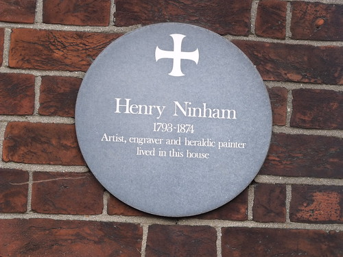 10 Chapel Field North, Norwich - plaque of Henry Ninham