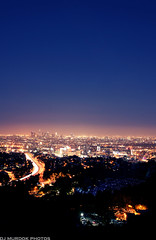 City lights in the distance.. (dj murdok photos) Tags: life longexposure cars 35mm landscape losangeles view live sony nighttime lighttrails alpha hollywoodbowl glens nitelites