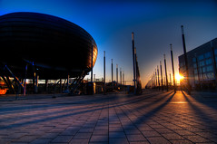 Expo Plaza - Hannover Messe (Sprengben [why not get a friend]) Tags: city wedding summer sky urban music motion art japan clouds skyscraper germany campus deutschland tokyo bay harbor amazing nikon highway asia waves artistic fairground gorgeous awesome linden watch einstein elevator zeppelin style autobahn hannover symmetry divine international bewegung ubahn stunning metropolis odaiba yokohama charming foreign fabulous messe carlights hindenburg hdr shushi rainbowbridge skywalk knigswortherplatz fotoshooting schnellweg engaging travelphotography germanwings d90 photomatix emc linearity foryoumydear leibnizuniversitthannover travellight d3s sprengben wwwflickrcomphotossprengben linearitt fluchtendelinien
