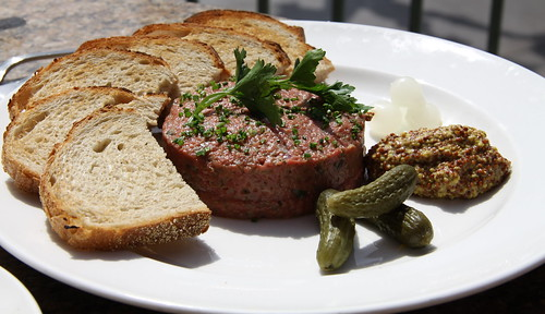 Mon Ami Gabi - Steak Tartare using filet mignon cut