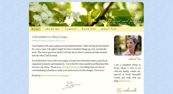 A Bowl of Moss and Pebbles: April 2010 Design
