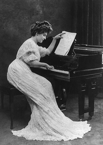 Edwardian Woman at piano