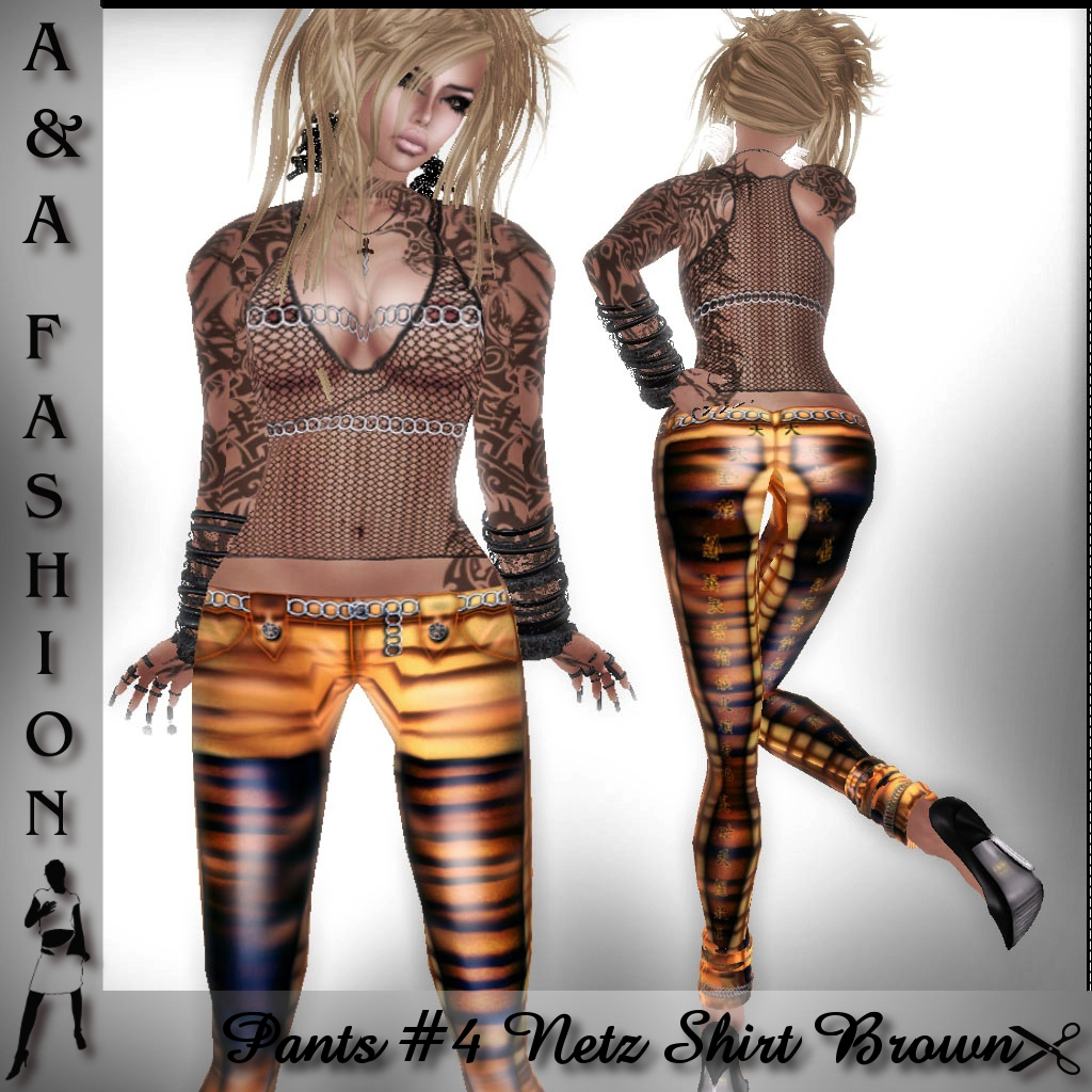 A&A Fashion Pants #4 Netz Shirt brown