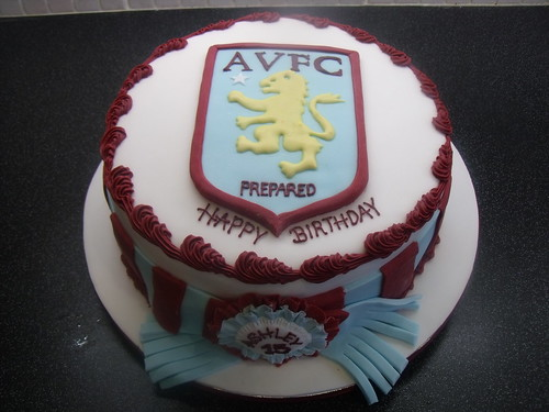 Aston Villa 40th Numbers Cake