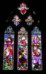 DSCN0510 Kirkby Lonsdale (Sou'wester) Tags: church window architecture lune buildings river town market religion stainedglass cumbria devilsbridge kirkbylonsdale ruskinsview