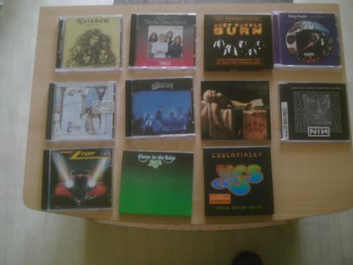 Achat de CDs en mai 2010