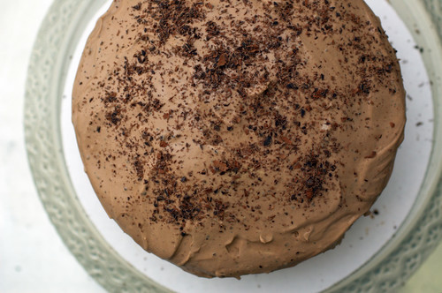 chocolate espresso cake with chocolate mascarpone frosting