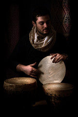 Musicians I (irfan cheema...) Tags: china pakistan light portrait musician music man black france scarf drum percussion orientalism ethnic chiaroscuro tabla orientalist ambiant xinjinag irfancheema