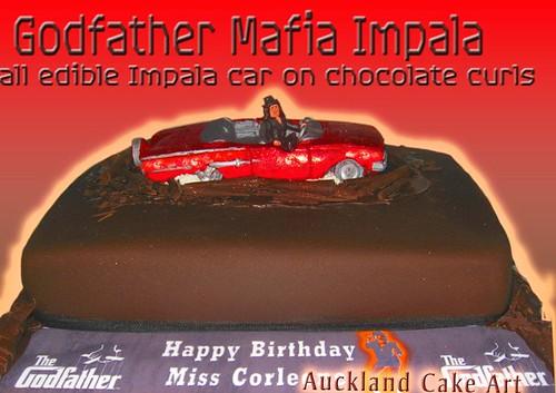 THE GODFATHER MAFIA IMPALA BIRTHDAY CAKE