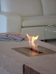Gas Fireplace made from X-Core wafers