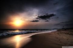 Candolim sunset (recaptured) Tags: sunset sea sky sun beach clouds sand goa explore dynamicrange hdr candolim arabiansea magicdonkey explored