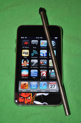 iPod with Ti stylus prototype
